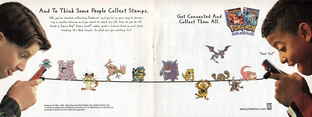 American Pokemon Ad from 1998. Who still collects stamps?