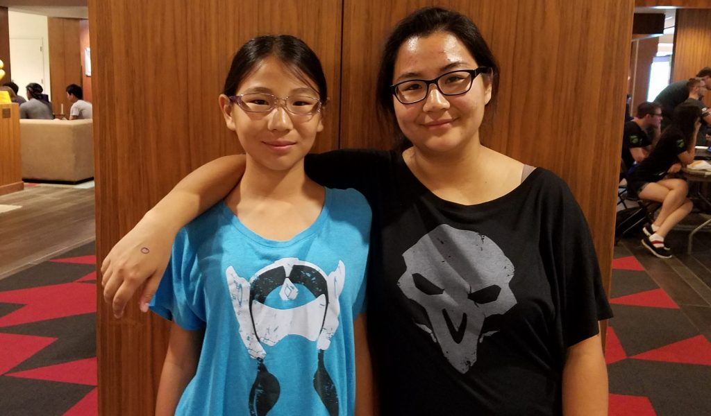 overwatch 3v3 entrants Allyson and Elizabeth