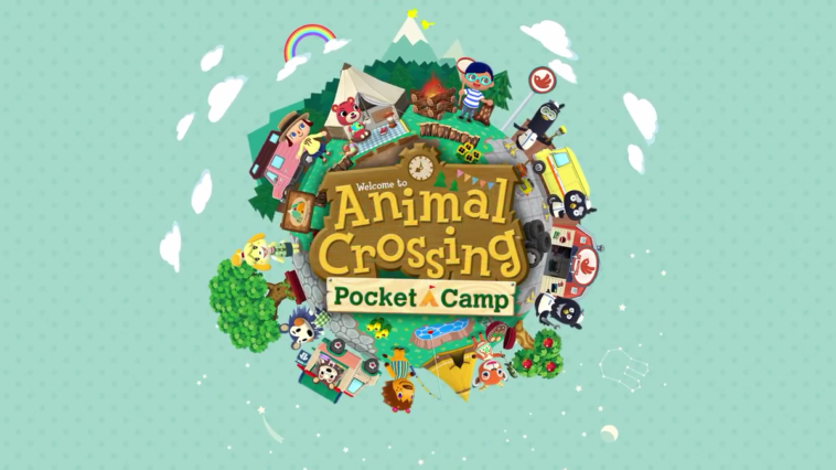 Logo and Promotional Art for Animal Crossing Pocket Camp