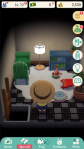 A screenshot of the player entering their RV.