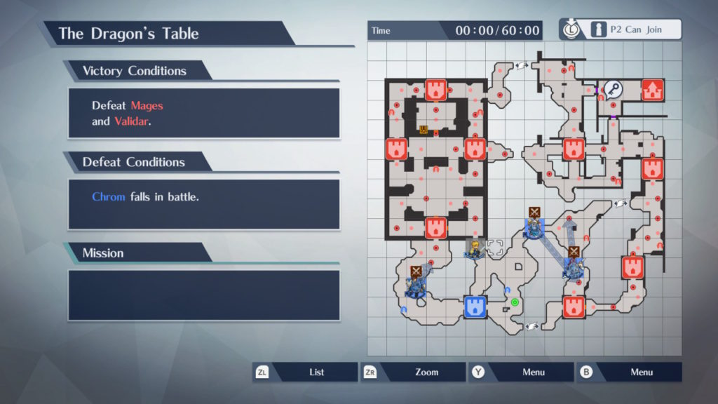 A screenshot of the in game menu. Shows the victory conditions, lose conditions, and current mission. Also shows a detailed view of the map.