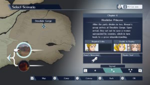 A screenshot of Story Mode branching off into multiple paths.