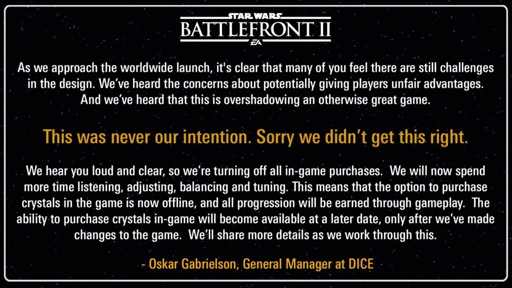 EA turns off microtransactions