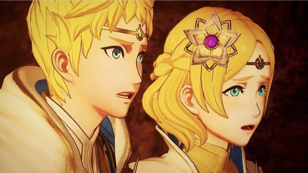 A screenshot of the two main characters, Rowen and Lianna.