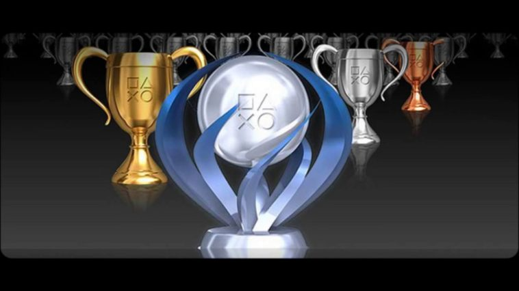 An image of the three types of PlayStation Trophies: Bronze, Silver, Gold, and Platinum